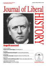 Cover of Journal of Liberal History 61