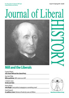 Cover of Journal of Liberal History 70