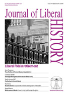 Cover of Journal of Liberal History 71