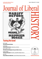 Cover of Journal of Liberal History 73