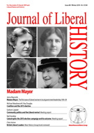Cover of Journal of Liberal History 89