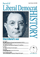 Cover of Journal of Liberal Democrat History 36