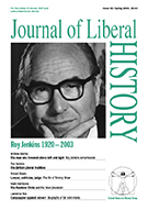 Cover of Journal of Liberal History 38