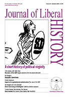 Cover of Journal of Liberal History 39 – Special issue: A short history of political virginity (history of the SDP)