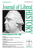 Cover of Journal of Liberal History 50