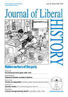 Cover of Journal of Liberal History 52