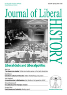 Cover of Journal of Liberal History 90